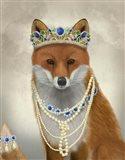 Fox with Tiara, Portrait Art Print