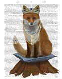 Fox with Tiara, Full Art Print