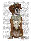 Boxer and Tiara, Full Art Print