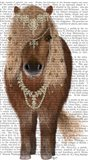 Horse Brown Pony with Bells, Full Art Print