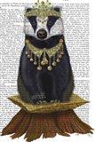 Badger with Tiara, Full Art Print