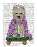 West Highland Terrier with Tiara Art Print