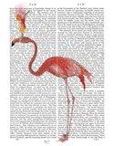 Flamingo and Cocktail 4 Art Print