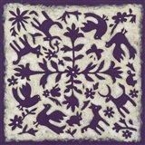 Folk Story in Purple Art Print