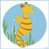 Sally the Seahorse Art Print