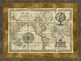 Antique World Map Art Print