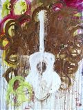 White Guitar Art Print