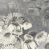 Flowers on Grey II Art Print