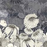 Flowers on Grey III Art Print