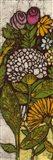 Batik Flower Panel I Art Print