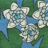 Turquoise Batik Botanical II Art Print
