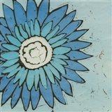 Turquoise Batik Botanical III Art Print