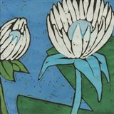 Turquoise Batik Botanical IV Art Print