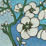 Turquoise Batik Botanical V Art Print