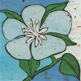 Turquoise Batik Botanical VI Art Print