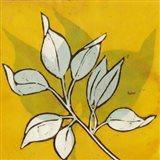 Gold Batik Botanical I Art Print