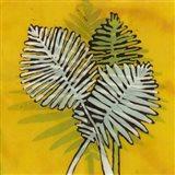 Gold Batik Botanical III Art Print