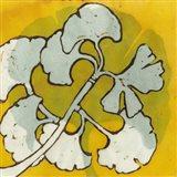 Gold Batik Botanical IV Art Print