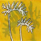 Gold Batik Botanical V Art Print