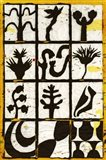 Black Botanical 12-Patch Art Print