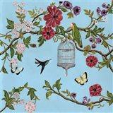 Bird Song Chinoiserie I Art Print