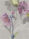 Violette Fleur II Art Print