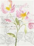 Romantic Watercolor I Art Print