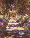 Jardin a Giverny Art Print