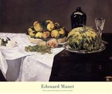 Still Life with Melons and Peaches Art Print