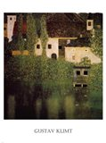 Unterach Manor and Lock Chamber on the Attersee Lake, c.1908 Art Print