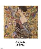 Lady with Fan, c.1917 Art Print