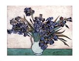 Irises in Vase, c.1890 Art Print