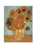 Vase with Twelve Sunflowers, c.1888 Art Print