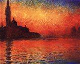 San Giorgio Maggiore at Twilight (Dusk in Venice), c.1908 Art Print