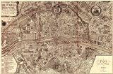 Plan de la Ville de Paris, 1715 Art Print