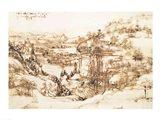 Arno Landscape, 5th August, 1473 Art Print