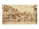 Perspective Study for the Background of The Adoration of the Magi Art Print
