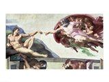 Sistine Chapel Ceiling (1508-12): The Creation of Adam, 1511-12 Art Print