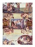 Sistine Chapel Ceiling (1508-12): The Creation of Eve, 1510 Art Print
