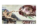 Sistine Chapel Ceiling (1508-12): The Creation of Adam, 1511-12 Art Print