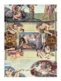 Sistine Chapel Ceiling (1508-12): The Creation of Eve, 1510 Art Print