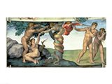 Sistine Chapel Ceiling (1508-12): The Fall of Man, 1510 Art Print