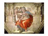 Sistine Chapel Ceiling: Delphic Sibyl Art Print