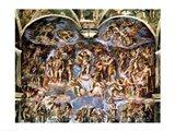 Last Judgement, from the Sistine Chapel, 1538-41 Art Print