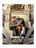 Sistine Chapel Ceiling: Cumaean Sibyl, 1510 Art Print