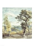 Landscape with Trees and a Distant Mansion Art Print