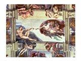 Sistine Chapel Ceiling: Creation of Adam, 1510 B Art Print