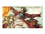 Sistine Chapel Ceiling: Creation of the Sun and Moon, 1508-12 Art Print