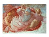 Sistine Chapel: God Dividing the Waters and Earth Art Print