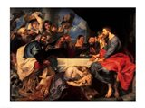 Feast in the house of Simon the Pharisee, c.1620 Art Print